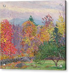 Landscape At Hancock In New Hampshire Acrylic Print by Lilla Cabot Perry