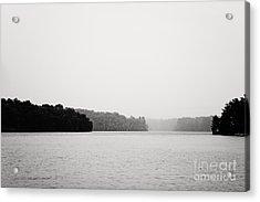 Landscape Black And White Fog Acrylic Print