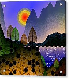 Landscape Acrylic Print by GuoJun Pan