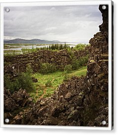 Landscape In Iceland Pingvellir Acrylic Print