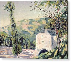 Landscape In Provence Acrylic Print by French School