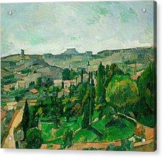 Landscape In The Ile-de-france Acrylic Print by Paul Cezanne