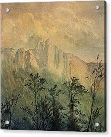Landscape In The Vosges Acrylic Print by Gustave Dore