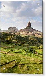 Landscape In Tigray, Northern Ethiopia Acrylic Print