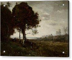 Landscape Acrylic Print by Jean Baptiste Camille Corot