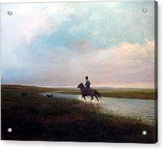 Landscape Acrylic Print by Ji-qun Chen
