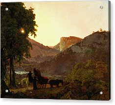 Landscape Acrylic Print by Joseph Wright of Derby