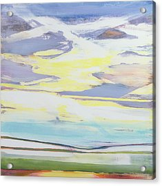 Landscape Acrylic Print by Lou Gibbs