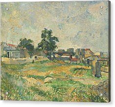 Landscape Near Paris Acrylic Print by Paul Cezanne