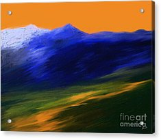 Landscape No 210 Acrylic Print by Shesh Tantry