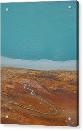 Landscape Of A Hot Spring Acrylic Print by Sarah Crites
