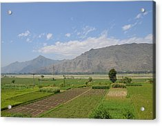 Acrylic Print featuring the photograph Landscape Of Mountains Sky And Fields Swat Valley Pakistan by Imran Ahmed