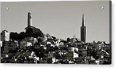 Acrylic Print featuring the photograph Landscape Of San Francisco by Alex King