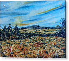 Landscape Sunflowers Field  Acrylic Print by Drinka Mercep