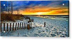 Landscape Sunrise Panorama Acrylic Print by Eszra Tanner