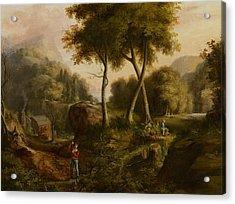 Landscape Acrylic Print by Thomas Cole
