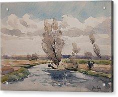 Landscape Acrylic Print by Henri Duhem