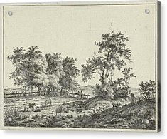 Landscape With Cartoonist And Dog, Hermanus Fock Acrylic Print
