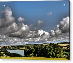 Landscape With Clouds Acrylic Print by Winifred Butler