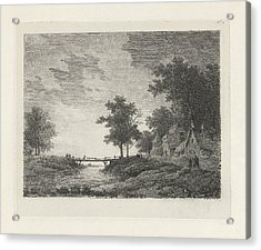 Landscape With Figures Near A Bridge, Print Maker Remigius Acrylic Print