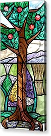 Landscape With Flora Acrylic Print by Gilroy Stained Glass