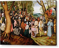 Landscape With Saint John The Baptist Preaching Acrylic Print by Pieter the Younger Brueghel