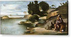 Landscape With St John The Evangelist Acrylic Print