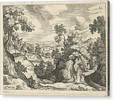 Landscape With The Good Samaritan, Print Maker Johann Acrylic Print by Johann Sadeler I And Hans Bol