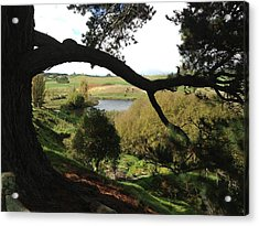 Landscape With Water Acrylic Print by Ron Torborg
