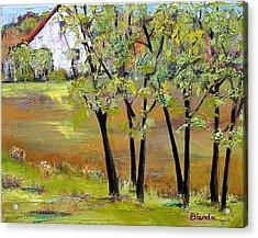 Landscapes Art - Hill House Acrylic Print by Blenda Studio