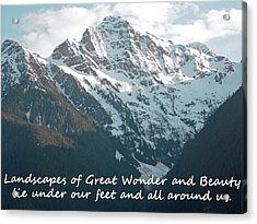 Landscapes Of Great Wonder  Acrylic Print