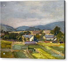 Landschaft In North Austria Acrylic Print by Egon Schiele