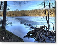 Landsford Canal-1 Acrylic Print by Charles Hite