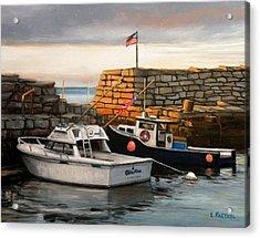 Lanes Cove Fishing Boats Acrylic Print