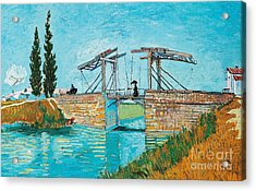 Langlois Bridge At Arles Acrylic Print by Vincent van Gogh