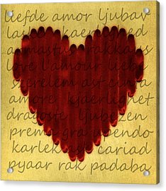Languages Of Love Acrylic Print