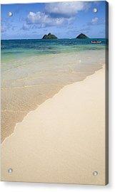 Lanikai And Mokulua Islands Acrylic Print by Brandon Tabiolo