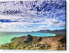 Lanikai Beach Cirrocumulus Clouds Acrylic Print