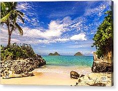 Lanikai Beach Cove Acrylic Print