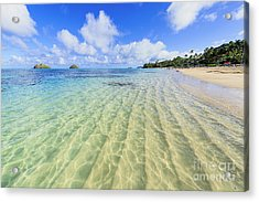 Lanikai Beach Mid Day Ripples In The Sand Acrylic Print