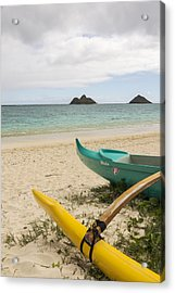 Lanikai Beach Outrigger 2 - Oahu Hawaii Acrylic Print by Brian Harig