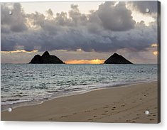 Lanikai Beach Sunrise 4 - Kailua Oahu Hawaii Acrylic Print by Brian Harig