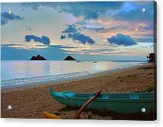 Lanikai Beach Sunrise 6 - Kailua Oahu Hawaii Acrylic Print by Brian Harig