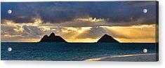 Lanikai Beach Sunrise Panorama 2 - Kailua Oahu Hawaii Acrylic Print by Brian Harig
