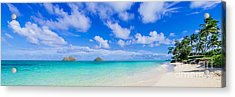Lanikai Beach Tranquility 3 To 1 Aspect Ratio Acrylic Print