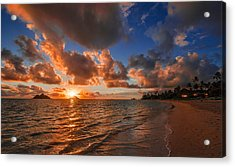 Acrylic Print featuring the photograph Lanikai Sunrise by RC Pics