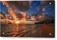 Lanikai Sunrise Acrylic Print