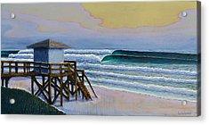 Lantana Lifeguard Stand Acrylic Print by Nathan Ledyard