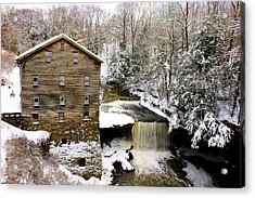 Lanterman's Mill In Winter Acrylic Print by Michelle Joseph-Long