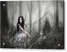 Lantern By The Cavern Acrylic Print by Justin Gedak